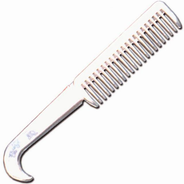 Mane comb with hoof pick